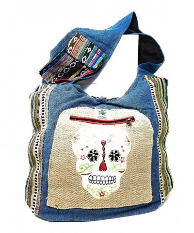 Sugar Skull Purse Cross Handcrafted