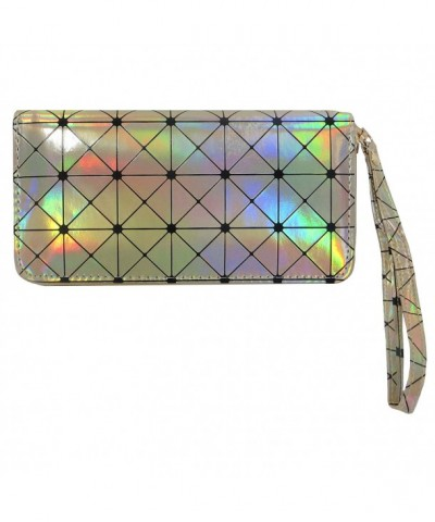 Luminous Geometric Holographic metallic leather