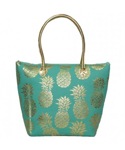 Golden Pineapple Handle Bags Accents