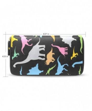 Womens Dinosaur Pattern Leather Wallet x