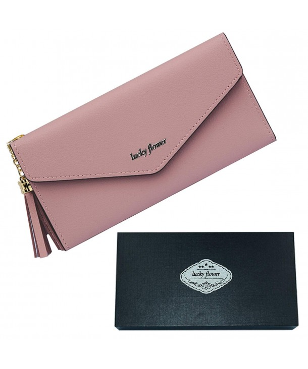 LUCKY FLOWER Wallets Leather Credit