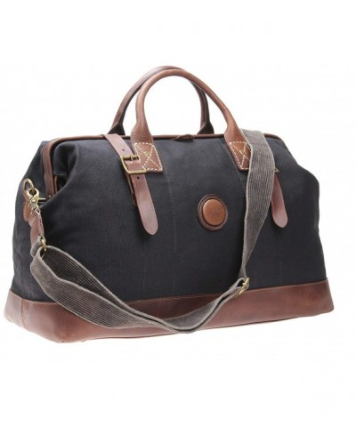 Leather Weekender Canvas Overnight Duffels