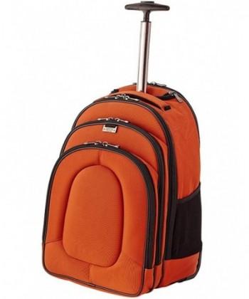 Landing Field Rolling Backpack Orange