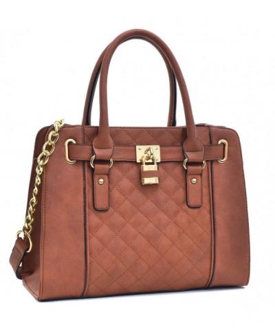 Fashion Structured Handbag Padlock Shoulder