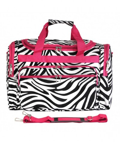 Luggage Duffle Pink Trim Zebra