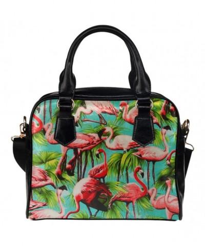 InterestPrint Summer California Flamingo Leather