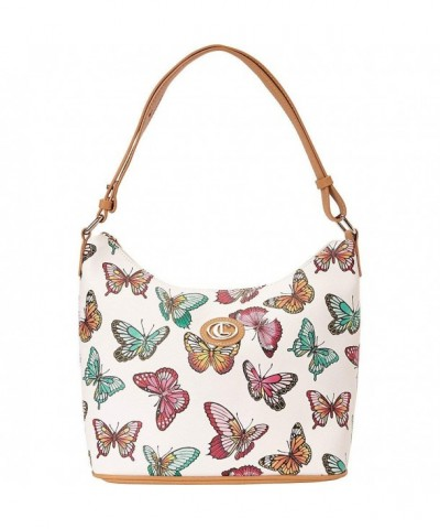 Aurielle Carryland Butterfly Print Hobo Multi