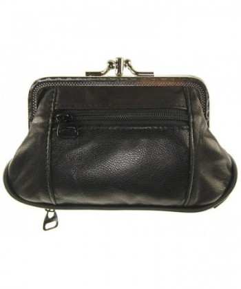 Womens Leather Metal Double Change