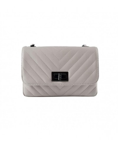Italian quilted shoulder leather chevron