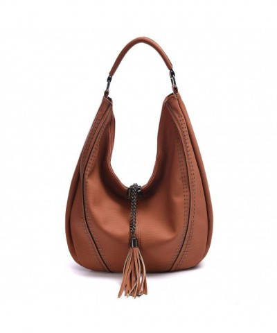 Handbags Shoulder Compacity Decoration Brown9130