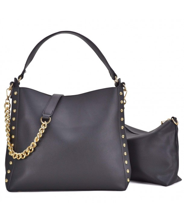 Dasein Studded Top handle Crossbody Handbags