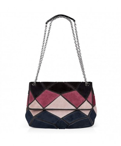 Nico Louise Patch color Messenger Black Blue Burgundy White