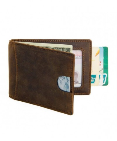 Genuine Leather Minimalist Bifold Blocking