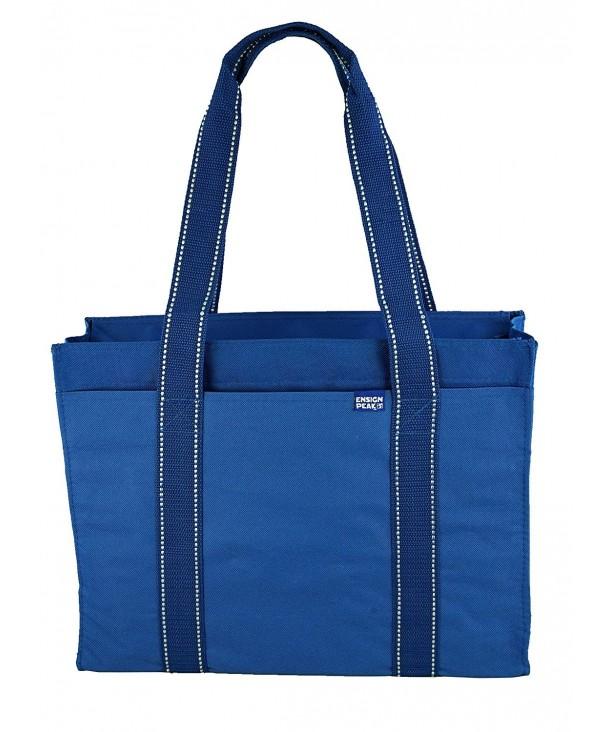 Poly Zipper Tote Bag Royal