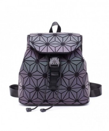Geometric Luminous Backpack Shoulder Rucksack