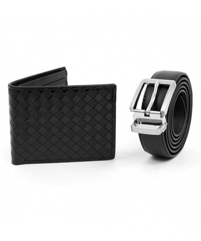 Matching Black Brown Leather Wallet