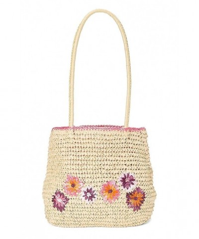 HatQuarters Crochet Handbag Embroidered Flowers