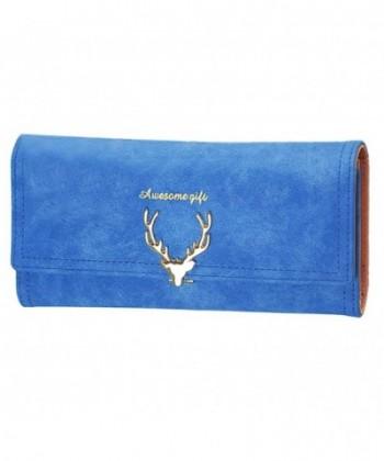 FUNOC Womens Envelope Leather Handbag