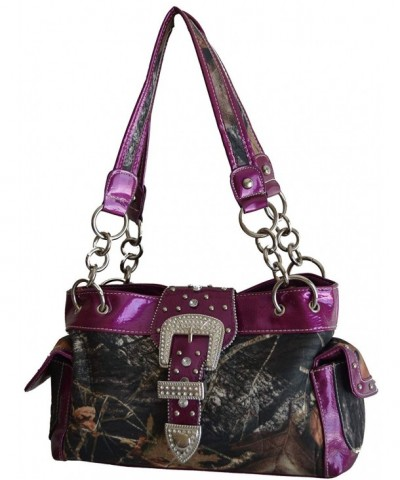 Camouflage Western Satchel Leather Handbag