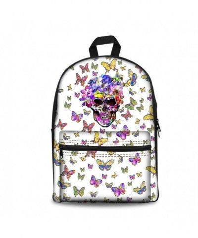 ArtistMixWay Skeleton Students Backpack Butterfly