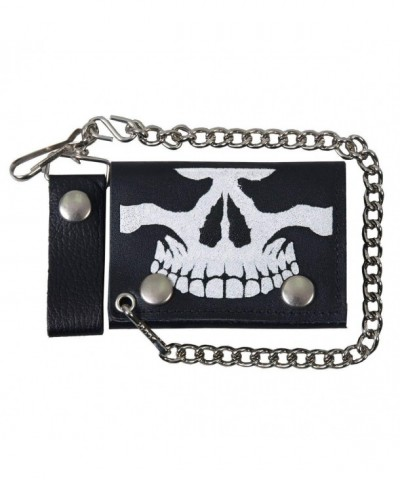 Hot Leathers Skull Leather Wallet