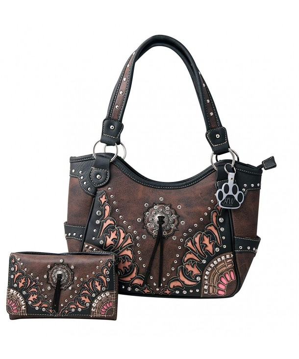 e74c92461f Western Purse Flower Concho Fringe Tassel Concealed Carry Handbag ...