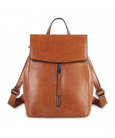 YALUXE Genuine Leather Backpack Shoulder