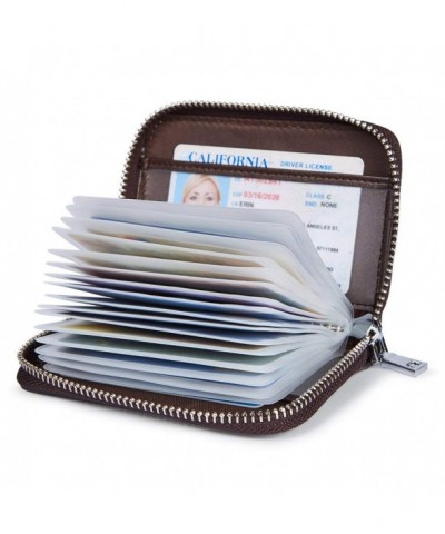 Credit Holder Organizer Security Leather
