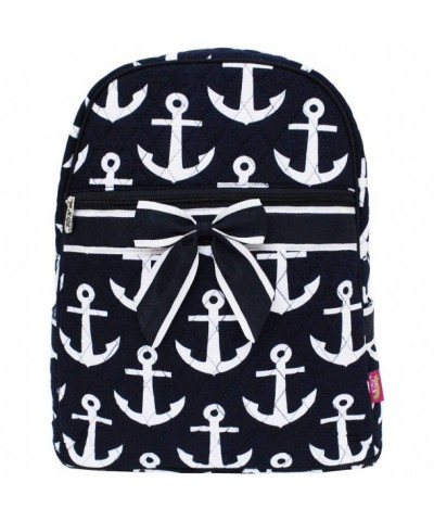 Quilted Anchor Themed Prints Backpacks