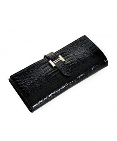 Glossy Genuine Leather Crocodile Pattern