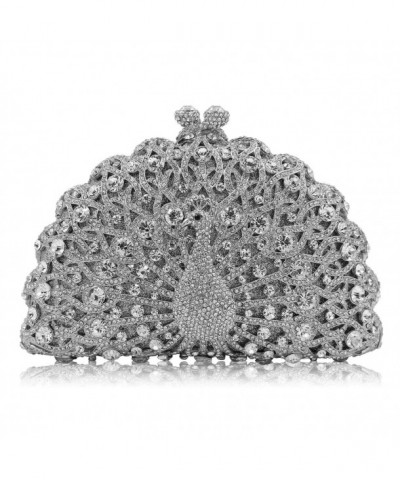 Milisente Peacock Crystal Clutches Diamonds