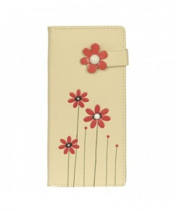 Shagwear Womens Beige Flowers Wallet