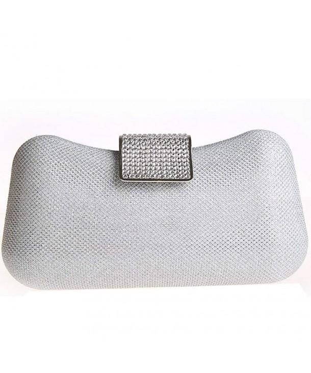 5fc4254d6f4 Women's Wedding Sequins Evening Clutch Bags - Silver - C811OPHJ0OD