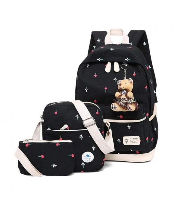 Canvas Backpack Patterned Bookbag Sunmall