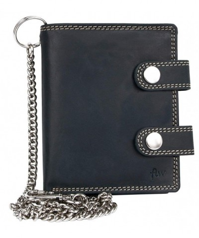 Bikers Genuine Leather Wallet Chain