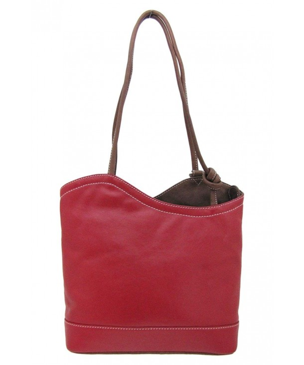 Italian Leather Convertible Shoulder Backpack