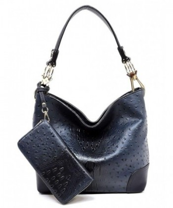 Elphis Ostrich Classic Shoulder Handbag