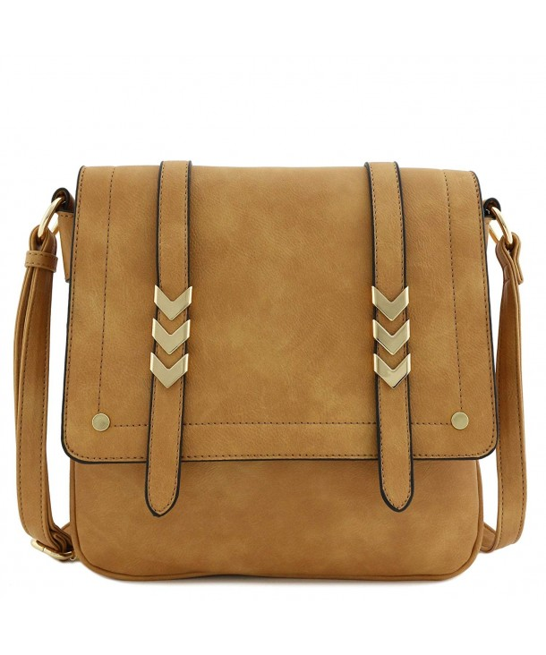 Double Compartment Large Flapover Crossbody