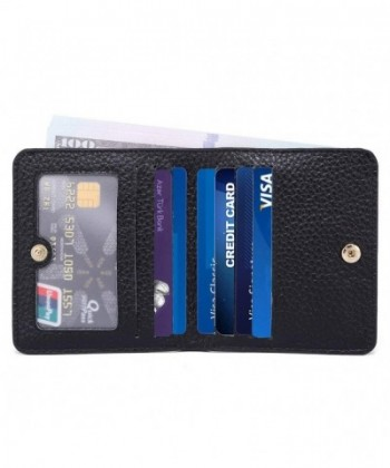 Womens Blocking Compact Bifold Leather