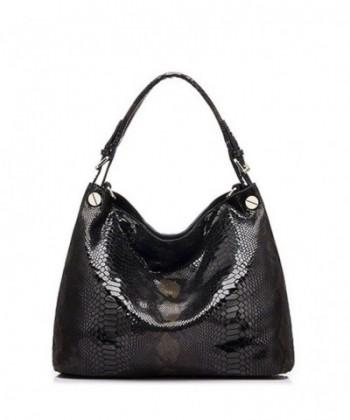Genuine Leather Handbag Embossed Shoulder