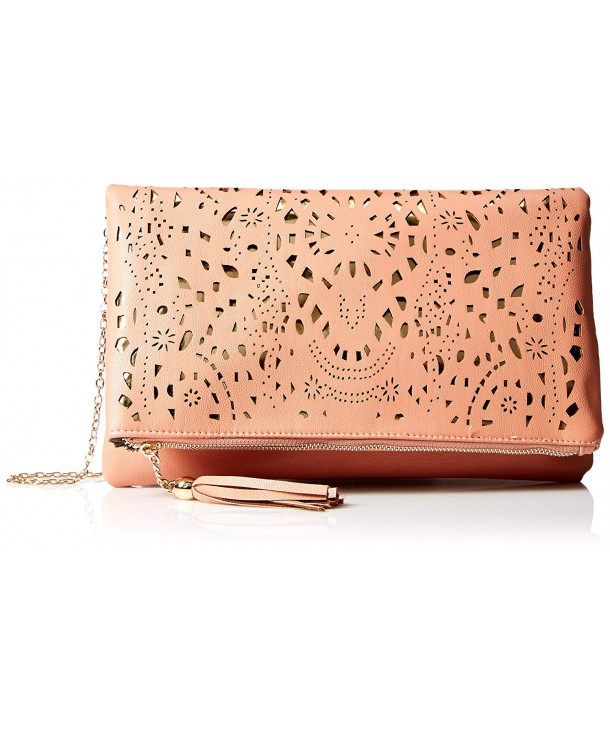 Perforated Pattern Background Foldover Fashion
