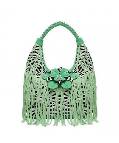 George Jimmy Fringe Flower Handbag