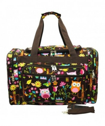 Print Shoulder Medium Duffle Bag brown