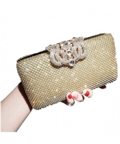 Wedding Crystal Evening Handbag Gold 1175