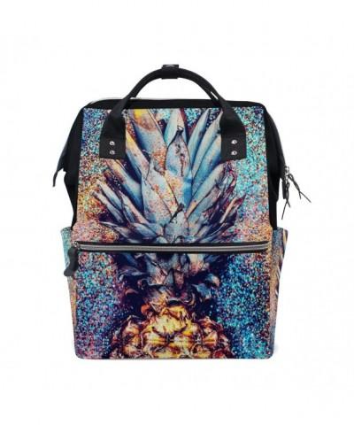 WOZO Glitter Pineapple Multi function Backpack