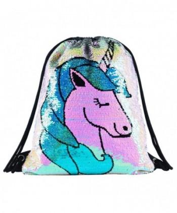 Drawstring Backpack Glittering Reversible DB UnicornStyle
