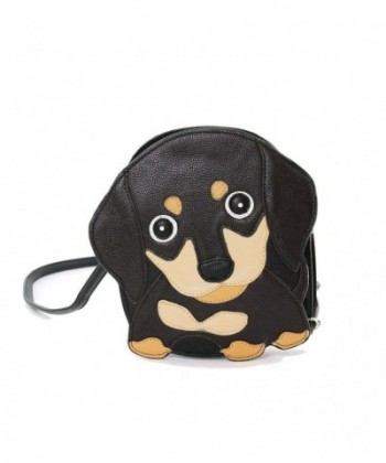 Brown Wiener Puppy Shoulder Crossbody