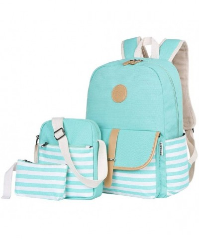 BLUBOON Canvas Backpack Bookbags Shoulder
