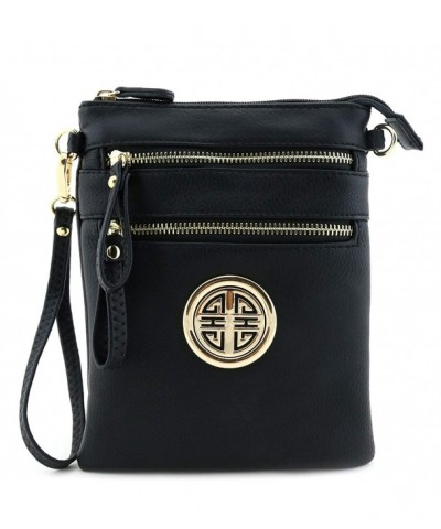 Zipper Pocket Wristlet Crossbody Emblem