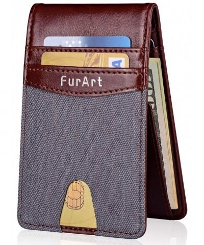 Minimalist Blocking FurArt Leather Wallets